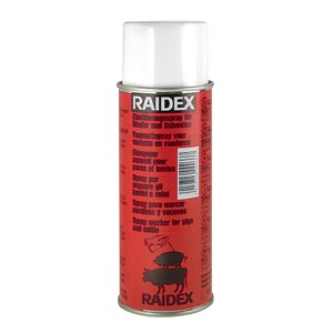 Raidex spray porc / bovin rouge 400ml
