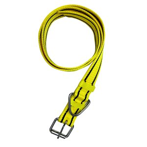 Collier nylon avec attache 125cm x 4cm jaune / noir