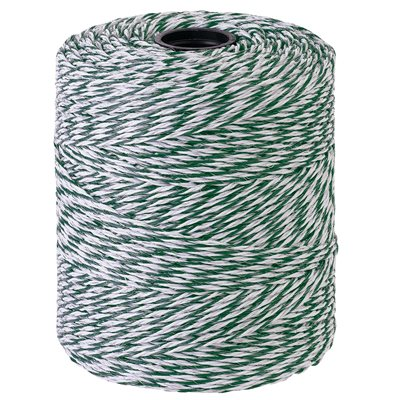 Twisted Green And White Wire 400m