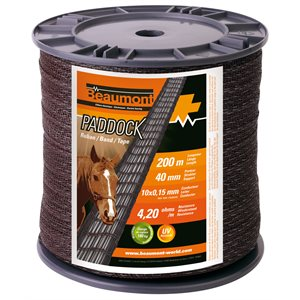 """Paddock"" Brown Tape 40mmx 200m"