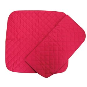 "Piqué selle 30"" x 30"" rouge*discontinue"
